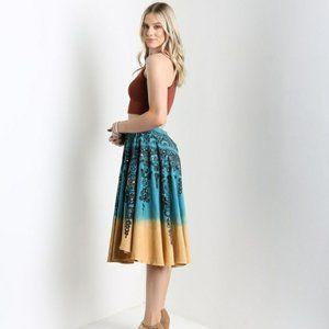 NEW! ANGIE Corduroy Boho Flowy Tie Dye Skirt
